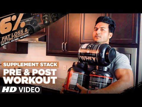 Pre & Post Workout SUPPLEMENT STACK For Fat Loss | 6% Vegetarian Program By Guru Mann