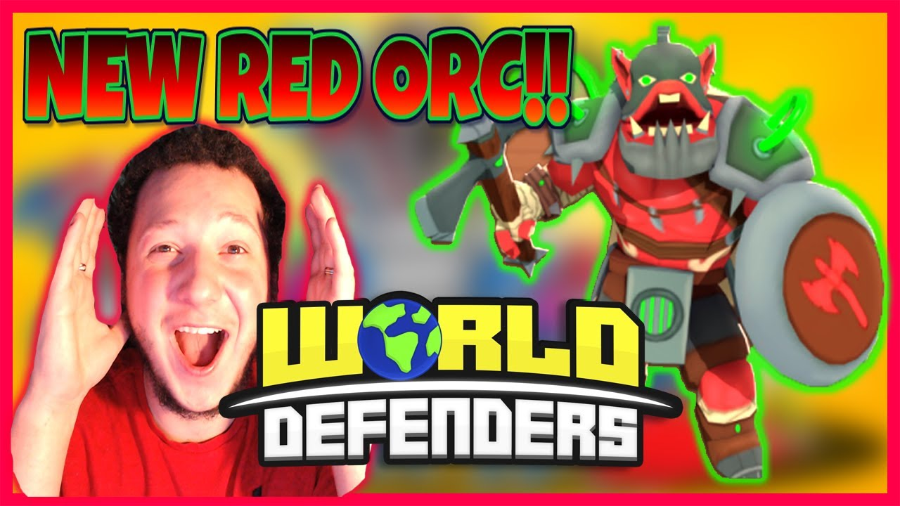 HOW GOOD IS THE RED ORC!!😱WORLD DEFENDERS NEW TOWER!!