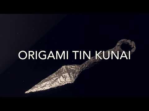 Origami Tin Kunai Knife Tutorial
