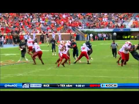 Anthony Harris - Virginia Football - Safety - 2014 Louisville Game