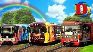 Метро Киев Цветные поезда Арт и вагоны c рекламой Metro Kiev