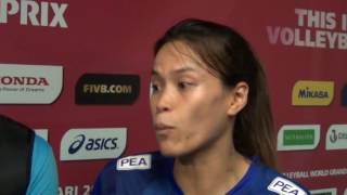 18-06-2016: Bari WGP - Captain and coach of Thailand after the match against Russia