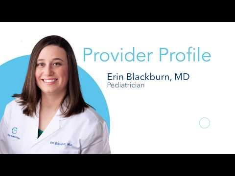Provider Profile, Dr. Erin Blackburn, Pediatrics