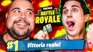 REAL VITTORY WITH THE KING OF FORTNITE! Soul & Cicciogamer89 SPACE!