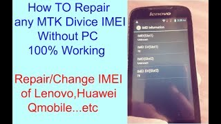 Samsung imei repair without pc