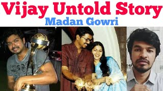VIJAY UNTOLD STORY   Tamil   Motivation    Madan Gowri   MG