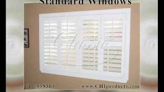 Interior Plantation Shutters For Standard Windows | Chi Products