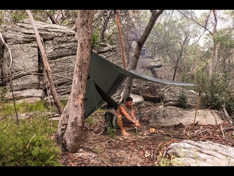 Overnight Solo Aussie Bushcraft Camp By A River