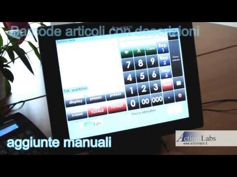 Software punto cassa. Registratore cassa con touch screen