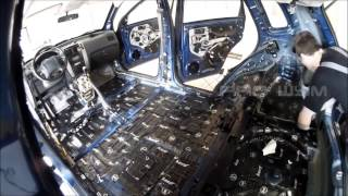 Hyundai Tucson Soundproofing of StP materials. Roof and Floor.
