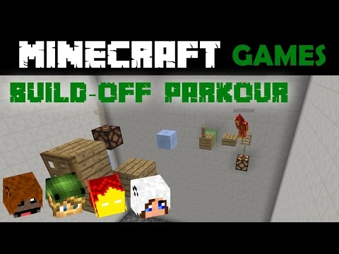 Minecraft Build-off Parkour minigame #2 w/ PhoenixSC & samasaurus6 - guest play from buckingirl4