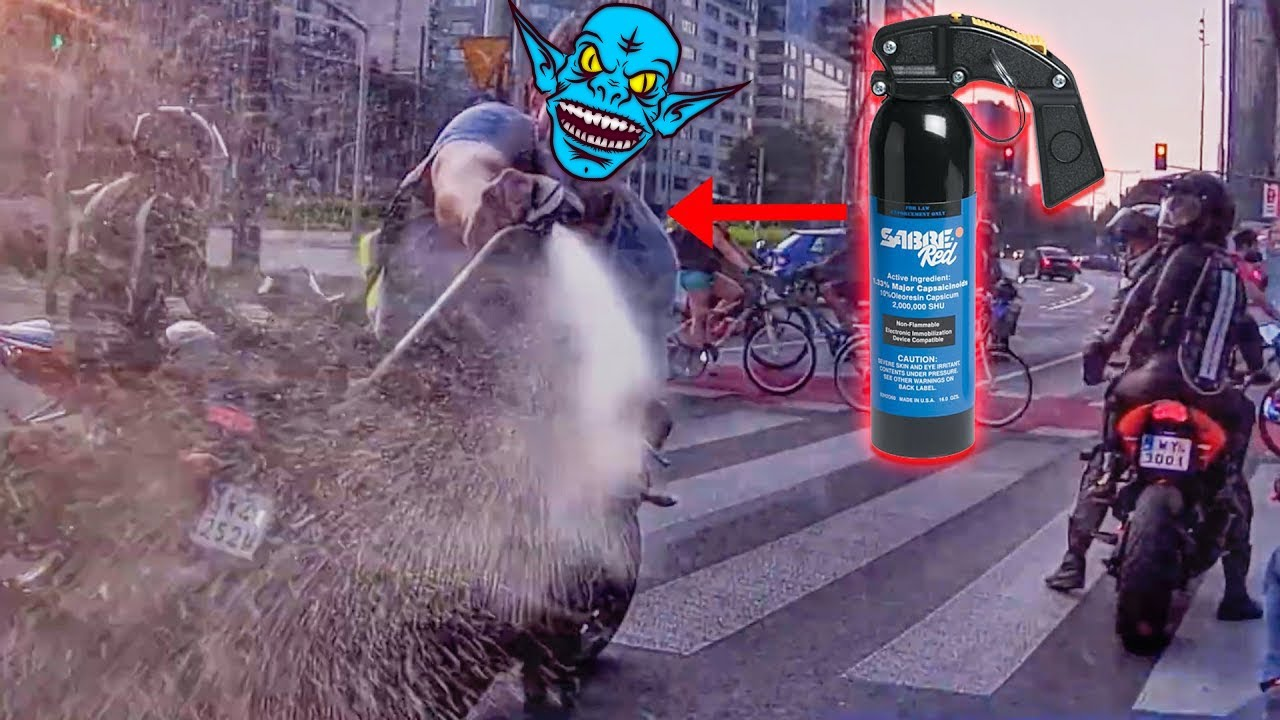 """""""PEPPER SPRAY RAGE!!!"""" - STUPID, CRAZY & ANGRY PEOPLE VS BIKERS 2021 - BIKERS IN TROUBLE! [Ep.#1024]"""