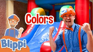 Blippi Learns Colors at Amy's Playground! | Educational Videos For Kids