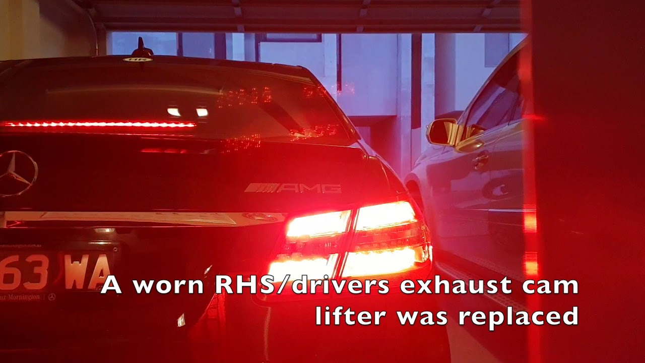 Mercedes E63 M156 noisy engine, poor timing and rough idle