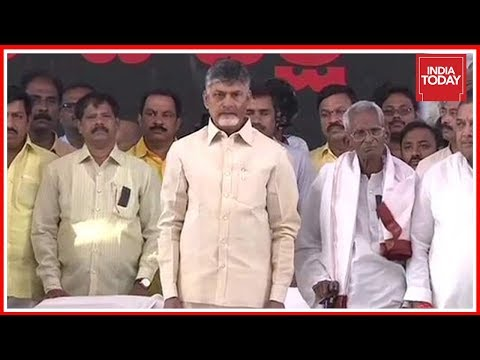 Andhra Status Row: CM Naidu Goes On Hunger Strike, Accuses Centre Of Non-Cooperation