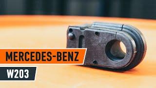Hur byter man Bussning krängningshämmare MERCEDES-BENZ C-CLASS (W203) - online gratis video