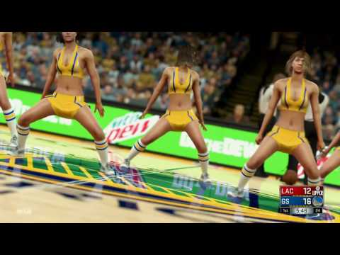 NBA 2K17 (PS4)- Los Angeles Clippers vs Golden State Warriors - Full Game - Simulation Nation