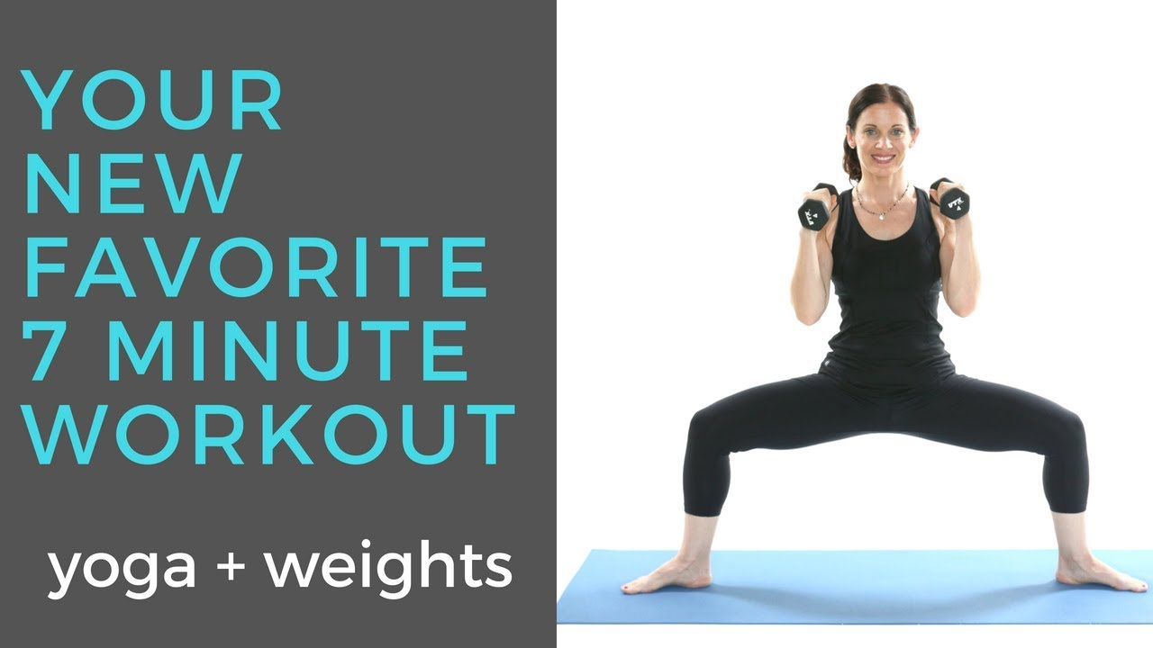7 Minute Yoga With Weights Workout Xen Strength Yoga Youtube