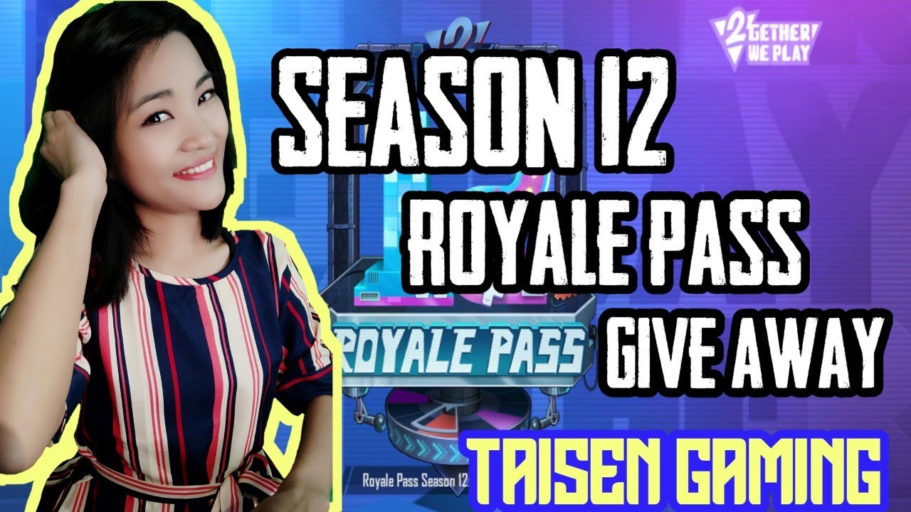 GIVEAWAY SEASON 12 ROYALE PASS AND UC | PUBG MOBILE LIVE WITH GIRL GAMER TAISEN