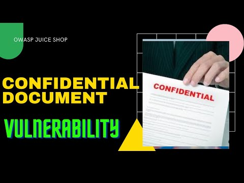 How to find confidential document vulnerability   OWASP juice shop