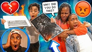 JAY & BAM BROKE MY MOMMA LAPTOP!💔(SHE SENDING THEM HOME)