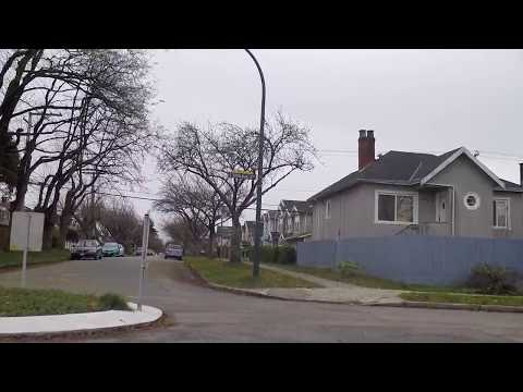 Life in Vancouver BC Canada - Driving Between Victoria Dr. & Knight Street - Houses/Homes/Property