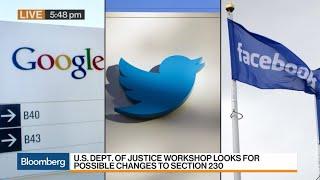 Barr Takes Aim at Google, Facebook Shield