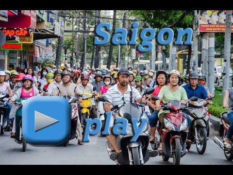 Traffic in Saigon, Ho Chi Minh City - Vietnam HD
