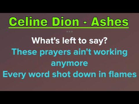 Celine Dion - Ashes (Karaoke + Lyrics)