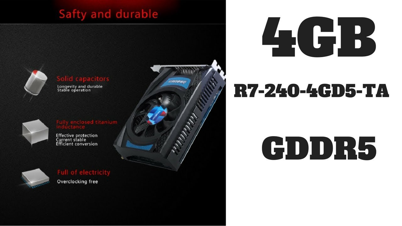Review 🎮 Video Graphics Card || R7 240 GPU 4GB GDDR5 128bit Gaming  Graphics Card !!!