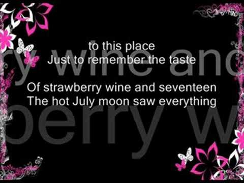 Strawberry Wine W lyrics