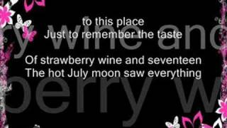 Strawberry Wine W/ lyrics