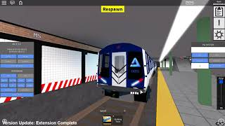 ROBLOX: Subway Train Simulator Remastered - AV-3 (A) test train roams within the game