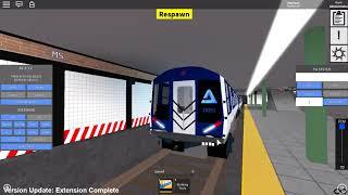 ROBLOX: Subway Train Simulator Remastered - AV-3 (A) train d'essai erre dans le jeu
