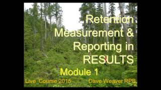 Module 1: Retention Measurement & Reporting in RESULTS Part 1