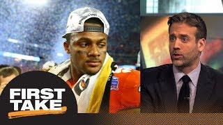 Max says Deshaun Watson reason Clemson lost to Alabama   First Take   ESPN