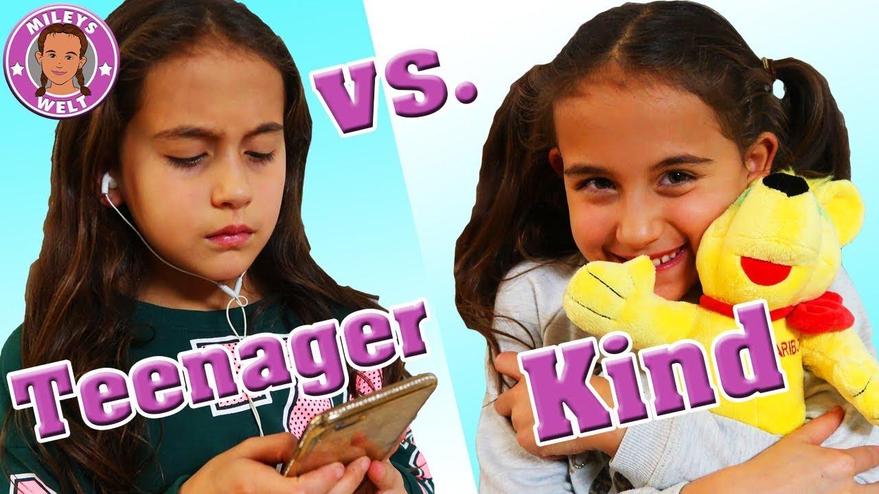 KIND VS. TEENAGER 😄 + lustige Outtakes - MILEYS WELT - YouTube