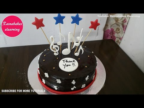 music theme birthday cake design ideas decorating tutorial video at home classes courses thumbnail