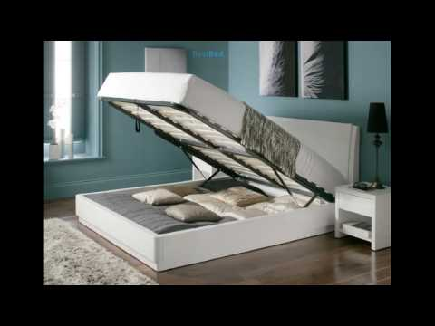 Aden High Gloss Ottoman Storage Bed – WHITE