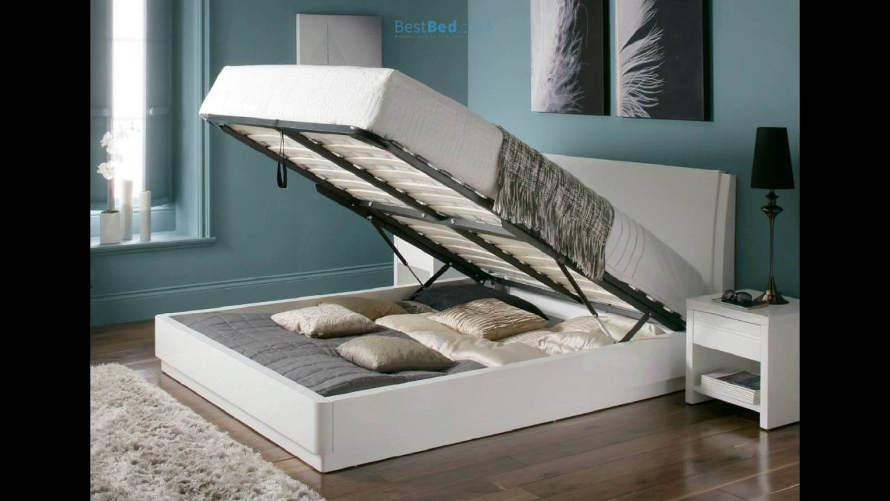 Aden High Gloss Ottoman Storage Bed – WHITE - Aden High Gloss Ottoman Storage Bed – WHITE - YouTube
