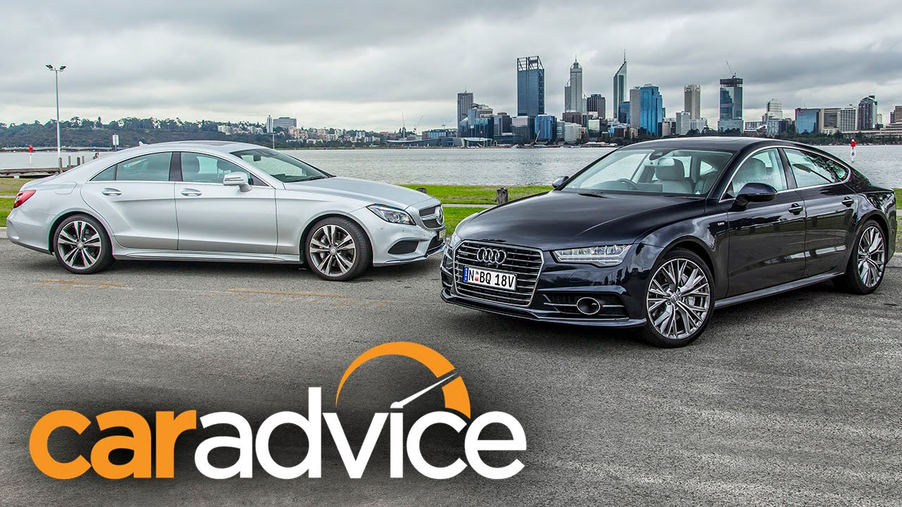 Audi A7 TDI Biturbo v MercedesBenz CLS 500 Review  YouTube
