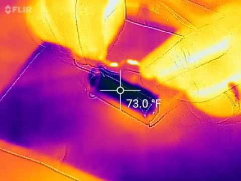 18650 lithium ion battery shorted out under FLIR camera