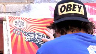 shepard fairey obey installation at sxsw