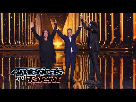 Mat Franco: Rosie O'Donnell and Howard Stern Help With Card Trick - America's Got Talent 2014 Finale