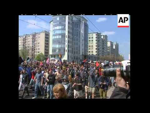 Anti-globalisation rally plus comment on Lithuania