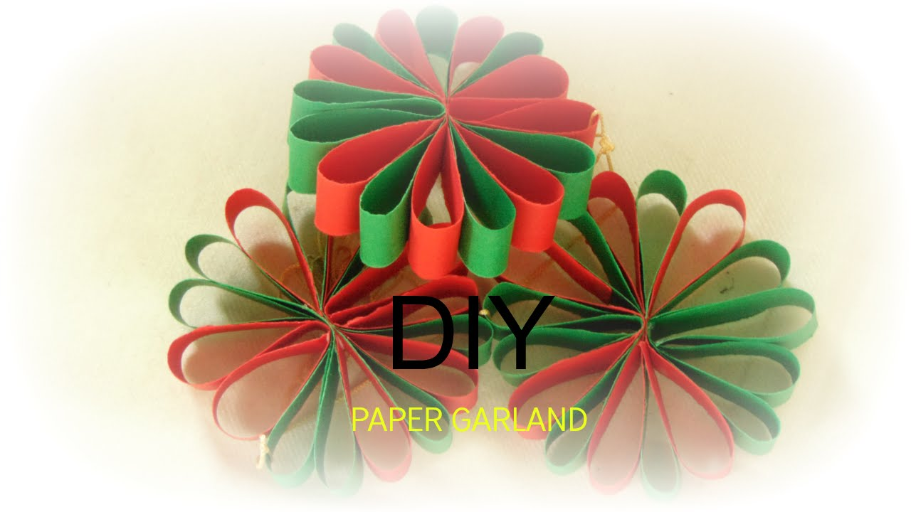 Paper craft how to make paper flower garland wall hanging easy paper craft how to make paper flower garland wall hanging easy simple diy 5min youtube mightylinksfo