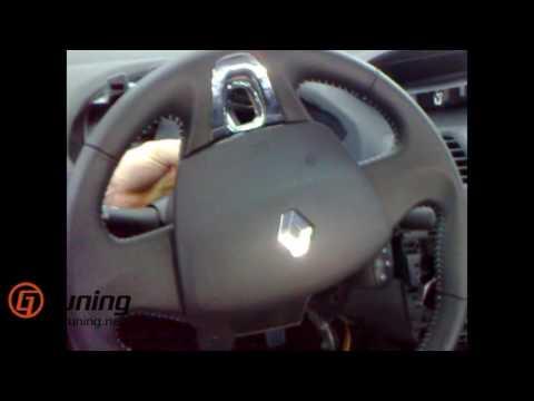 Cмотреть Как снять руль, подушку безопасности аирбег Рено Флюренс (Renault Fluence) 2015 2016