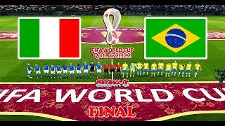 ITALY vs BRAZIL Final FIFA World Cup 2022 Full Match All Goals PES 2021 eFootball Gameplay