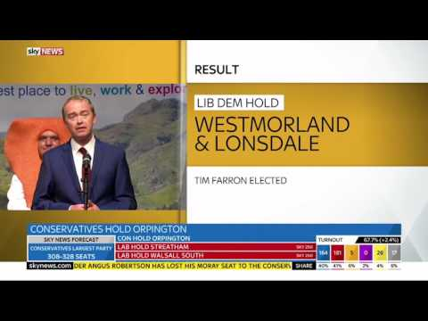 Tim Farron re-elected to Westmorland and Lonsdale constituency