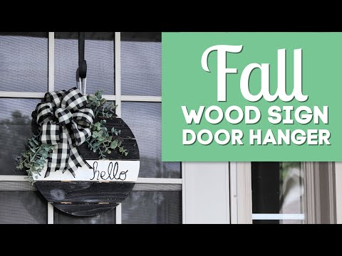 Fall Wood Sign Door Hanger